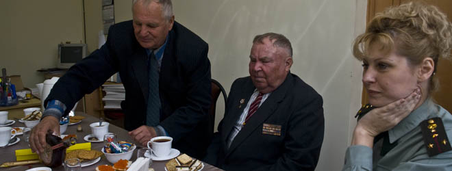Meeting whit Red Army War veteran in Vladivostok, 2007